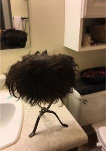Wig, real hair.