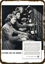 1951 WESTERN ELECTRIC Vintage Look REPLICA METAL SIGN  TELEPHONE SWITCH OPERATOR