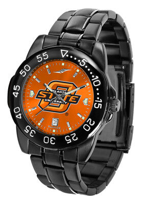 Oklahoma State Cowboys Licensed Men Fantom Anochrome Watch and Dog Tag