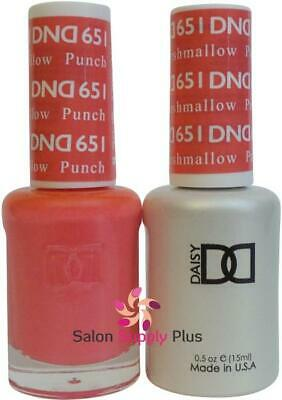 DND Daisy Duo Gel w/ matching nail polish lacquer - Punch Marshmallow - 651