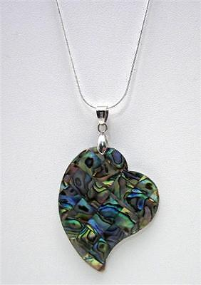 - Abalone Heart Pendant Necklace ~ 2
