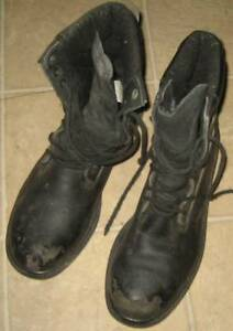 black steel toed work boots in very good condition