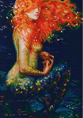 Counted Cross Stitch Kit Rto    Red Mermaid