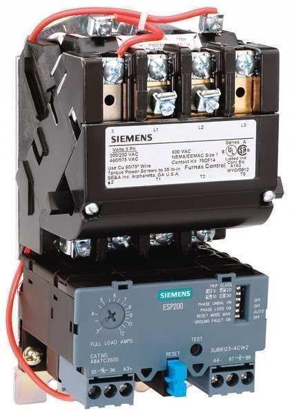 NEW Furnas Siemens Nema Size 1-3/4  Motor Starter, Cat No. 14EUE32AA
