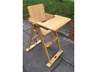 Quality wooden highchair must go £15 pram £45