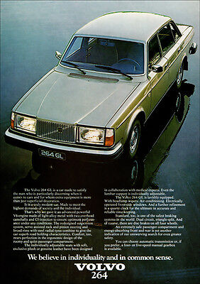 VOLVO 264 GL 260 SERIES RETRO A3 POSTER PRINT FROM CLASSIC 70'S ADVERT