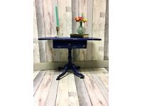 Coffee table on wheels , detailed table , end table , bedside cabinet with one drawer