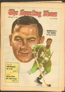 Sporting News Feb. 12, 1972 – Ted Harris North Stars cover