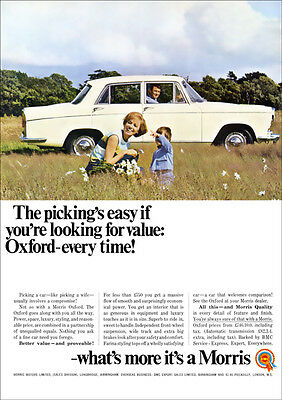 BMC MORRIS OXFORD RETRO A3 POSTER PRINT FROM CLASSIC 60'S ADVERT