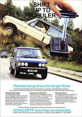 RANGE ROVER CLASSIC TORQUEFLITE AUTO RETRO A3 POSTER PRINT FROM 80'S ADVERT