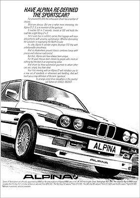 BMW E30 ALPINA C1 RETRO A3 POSTER PRINT FROM CLASSIC 80's ADVERT