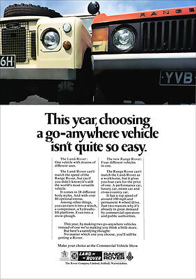 LAND ROVER IIA & RANGE ROVER RETRO A3 POSTER PRINT FROM CLASSIC ADVERT