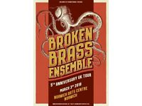2 tickets for Broken Brass Ensemble, Norwich Arts Centre, Saturday 3rd March. £20 ONO for both.