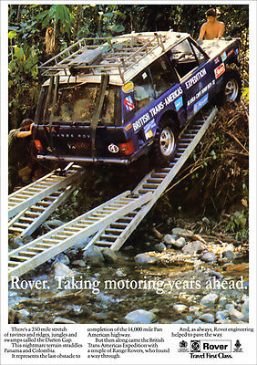 LAND ROVER RANGE ROVER DARIEN GAP RETRO A3 POSTER PRINT FROM CLASSIC ADVERT