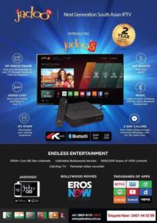 Jadoo 5 4k with 2 years warranty no annual fees + EFTPOS Availabe