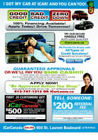 iCar Guaranteed Car Approval or We'll Pay You!!!
