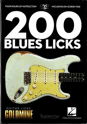 200 Blues Licks Learn How to Play Guitar Tuition DVD Lead Lines Phrases Riffs