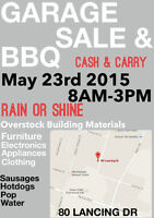 Huge Yard Sale Blowout & BBQ