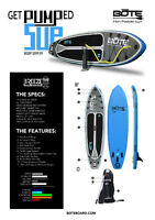 Bote Breeze Inflatable SUP Stand Up Paddle Board