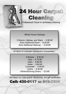 24HR Carpet and Upholstery cleaning! Free deodorizer! Edmonton Edmonton Area image 1