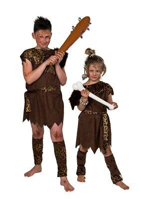 FM - Kinder Kostüm Steinzeitmensch Karneval - Steinzeit Kostüm Kinder
