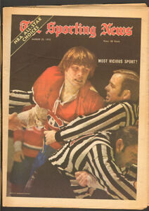 Sporting News Mar. 25, 1972 – Habs Marc Tardif cover