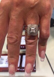 1.05 carat polar bear diamond princess cut ring