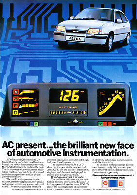 VAUXHALL ASTRA GTE MK2 RETRO A3 POSTER PRINT FROM 80's ADVERT