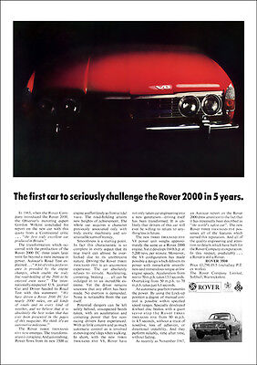 ROVER P6 3500 V8 RETRO A3 POSTER PRINT FROM CLASSIC 60's ADVERT