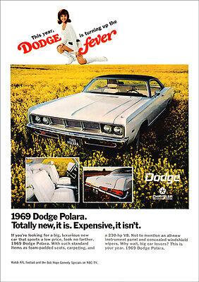 DODGE 69 POLARA C BODY MOPAR RETRO A3 POSTER PRINT FROM ADVERT 1969