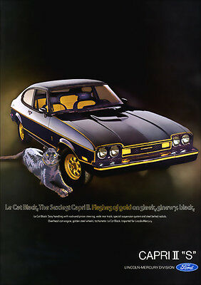 FORD MK2 CAPRI EXPORT VERSION RETRO A3 POSTER PRINT FROM 70'S ADVERT