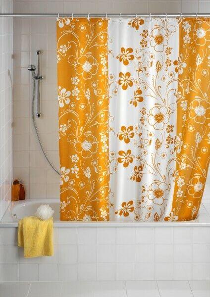 6x Dusch Vorhang Anti-Schimmel Textil 180x200 inkl. Duschvorhangringe Garden