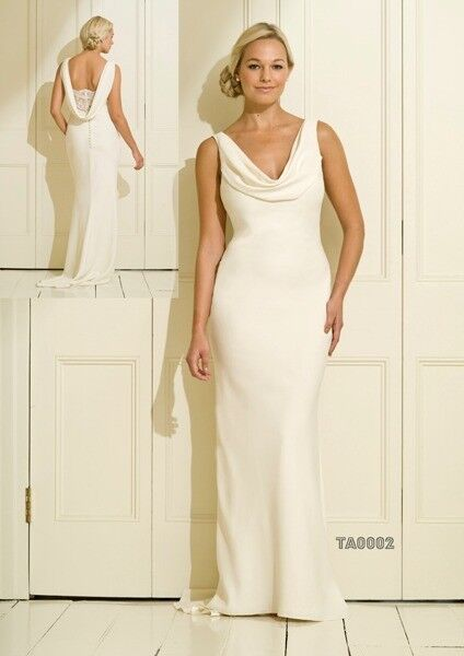 Beautiful Ivory Cowl Neck Wedding Dress | in Glasgow City Centre ...