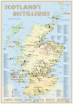 Whisky Distilleries Scotland - Poster 42x60cm Standard Edition