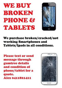 BUYING BROKEN /CRACKED IPHONES SAMSUNGS TABLETS IPADS Annerley Brisbane South West Preview