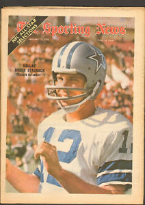 Sporting News Jan. 15, 1972 – Dallas Cowboy QB Staubach cvr