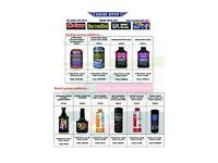 Lubricants & engine additives for your garage & Auto parts store at wholesale prices !!