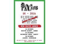 Pixies x 2 Front Circle Row H Manchestet Apollo Sunday 4th December 07966637628