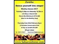 Zumba classes in Cardiff including Easter holidays