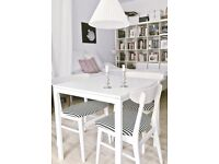 Ikea classic table in white - perfect condition