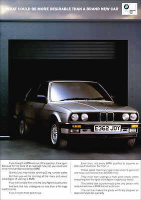 BMW E30 3 SERIES RETRO A3 POSTER PRINT FROM CLASSIC ADVERT 1988