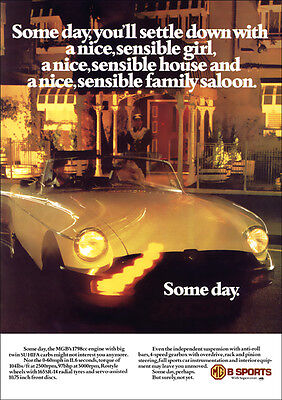 MG MGB 1978 RETRO POSTER A3 PRINT FROM CLASSIC ADVERT