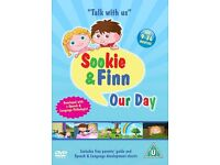 Sookie and Finn: Our Day, At School DVD's (speech and language development)