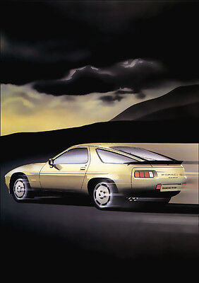 PORSCHE 928S 928 S RETRO A3 POSTER PRINT FROM CLASSIC 80'S ADVERT