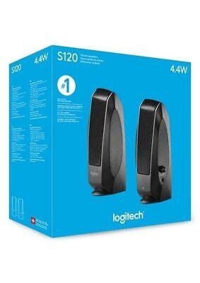 - Logitech S120 980-000309 Wired Stereo Speaker Pair Powered Multimedia 4.4W Black