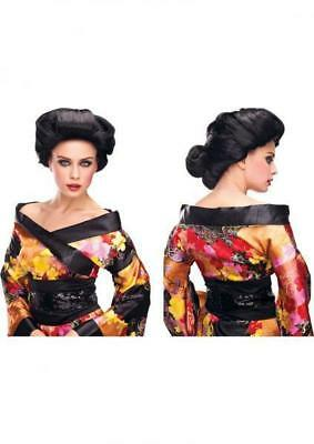 Pleasure Wigs Geisha Wig Black One Size Costume Role - Geisha Wigs