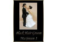 1 Interchangeable Black Haired White Groom Wedding Cake Topper Decoration Fab Keep Sake