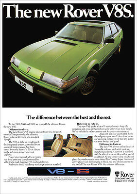 ROVER SD1 3500 V8S RETRO A3 POSTER PRINT FROM CLASSIC 1979 ADVERT
