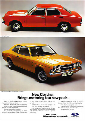 FORD CORTINA GT & L MK3 RETRO A3 POSTER PRINT FROM CLASSIC 70's ADVERT
