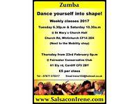 Zumba classes in Whitchurch & llandaff